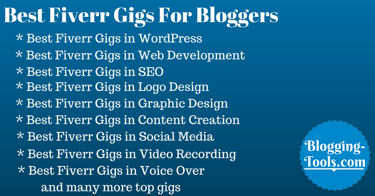 best fiverr gigs for bloggers
